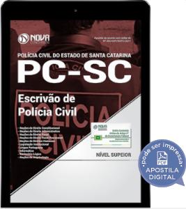 download apostila concurso policia civil sc