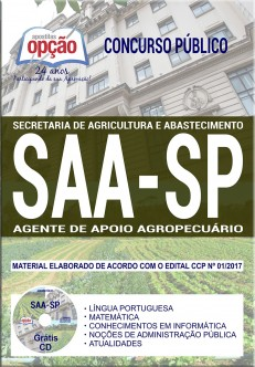 download apostila concurso saa sp