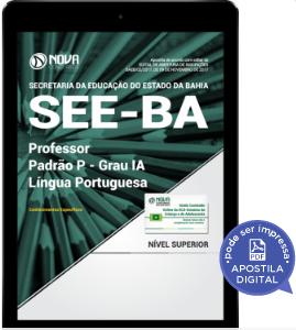 download apostila professor lingua portuguesa see ba