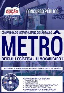apostila concurso metrô sp