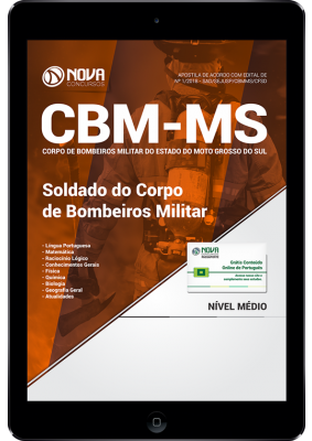 apostila soldado cbm ms
