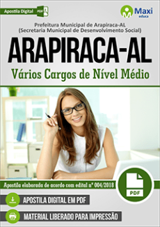 Apostila Prefeitura de Arapiraca AL 2018