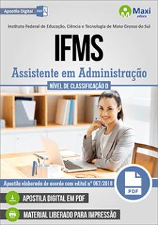 Apostila Concurso IFMS 2018 pdf