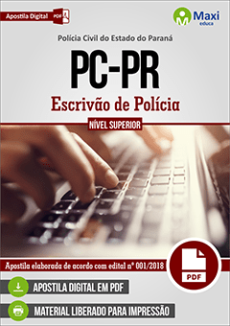 Apostila Polícia Civil PR 2018
