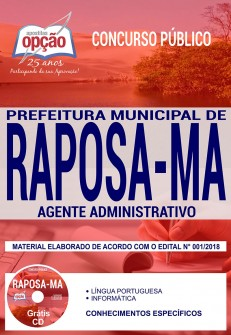 Apostila Prefeitura de Raposa MA 2018
