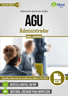 Apostila Concurso AGU 2018 Administrador