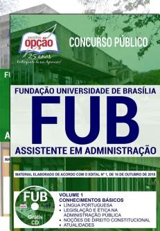 Apostila Concurso FUB 2018 Assistente em Administração