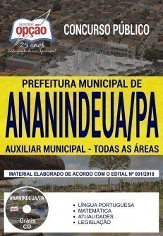 ApostilaPrefeitura de Ananindeua Auxiliar Municipal