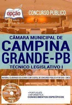 Apostila Câmara de Campina Grande PB TÉCNICO LEGISLATIVO