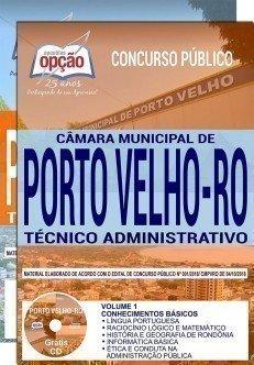 Apostila Câmara de Porto Velho Técnico Administrativo