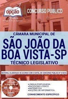 Apostila Câmara de São João da Boa Vista 2019