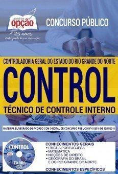 Apostila CONTROL CGE RN 2018 2019