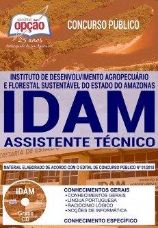 Apostila Concurso IDAM Assistente de Técnico