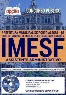 Apostila Concurso IMESF ASSISTENTE ADMINISTRATIVO