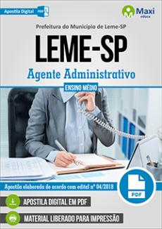 Concurso Prefeitura de Leme 2018 pdf