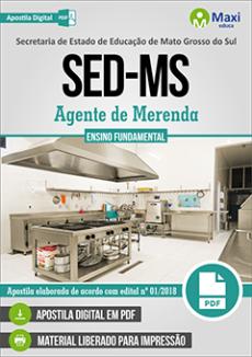 Apostila AGENTE DE MERENDA Concurso SED MS