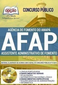 Apostila AFAP 2018/2019 - Assistente Administrativo de Fomento