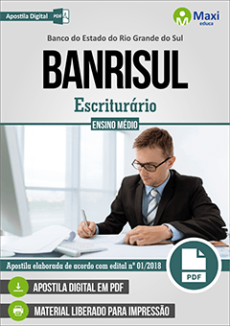 Apostila BANRISUL 2019