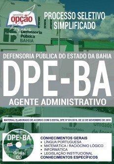 Apostila DPE-BA 2018 AGENTE ADMINISTRATIVO