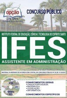 Apostila IFES 2018 2019 Assistente em Administração