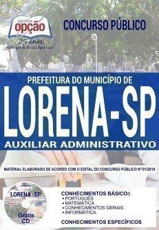 Concurso Prefeitura de Lorena AUXILIAR ADMINISTRATIVO