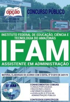 Apostila Concurso IFAM 2019 pdf Assistente em Administração