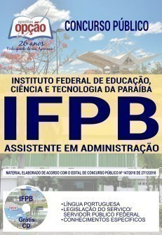 Apostila Concurso IFPB Assistente em Administração