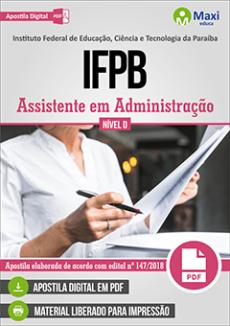 Apostila Concurso IFPB 2019
