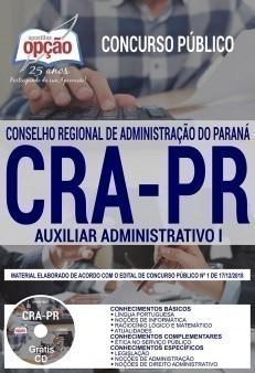 Apostila CRA-PR 2019 Auxiliar Administrativo I