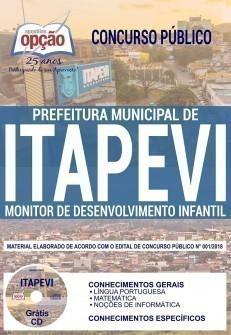 Apostila Prefeitura de Itapevi 2019 Monitor de Desenvolvimento Infantil