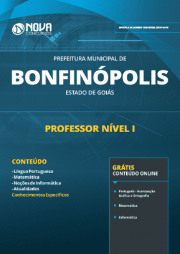 Apostila Prefeitura de Bonfinópolis
