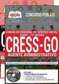 Apostila Concurso CRESS GO Agente Administrativo