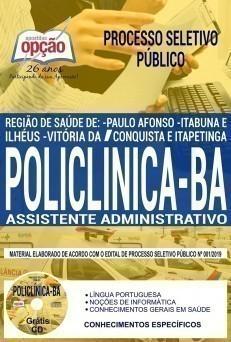 Apostila Policlínica BA Assistente Administrativo