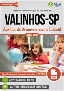 Apostila Prefeitura de Valinhos2019