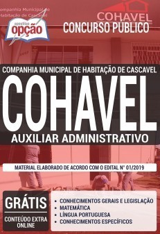 Apostila COHAVEL2019 Auxiliar Administrativo