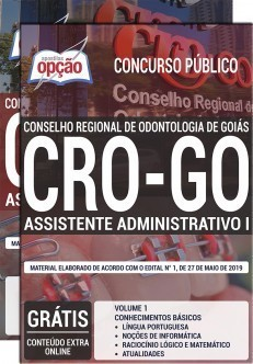 Apostila Concurso CRO-GO 2019 PDF