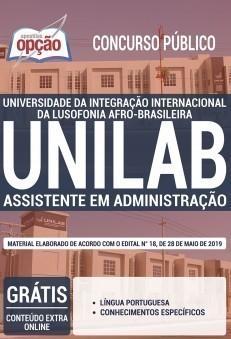 Apostila UNILAB 2019 Assistente em Administração