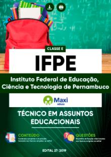 Apostila IFPE 2019 pdf Técnico em Assuntos Educacionais
