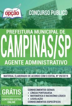 Apostila Prefeitura de Campinas Agente Administrativo