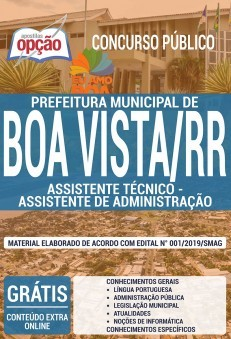 Apostila Prefeitura de Boa Vista Assistente de Administração