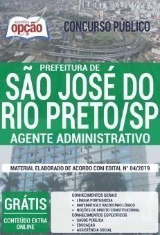 Apostila Prefeitura de São José do Rio Preto Agente Administrativo