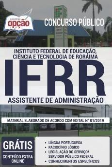 Apostila IFRR 2019 Assistente de Administração