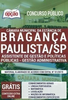 Baixar Apostila Câmara de Bragança Paulista 2019 2020