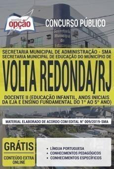 Apostila Prefeitura de Volta Redonda Docente II