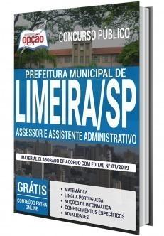 Apostila Prefeitura de Limeira Assessor Administrativo