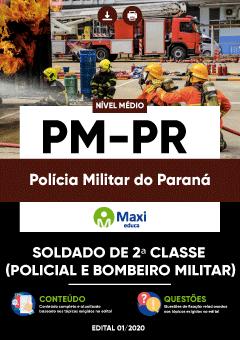 Concurso Polícia Militar do Paraná 2020 Apostila PM-PR