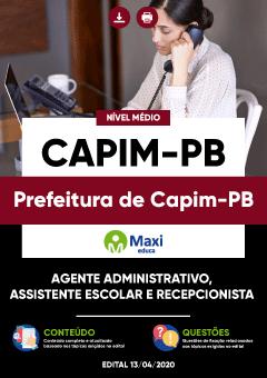 Concurso Prefeitura de Capim PB 2020