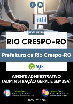 Concurso Prefeitura de Rio Crespo RO 2020