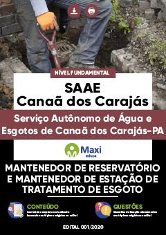 Concurso SAAE Canaã dos Carajás PA