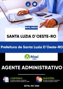Concurso Apostila Prefeitura de Santa Luzia D'Oeste